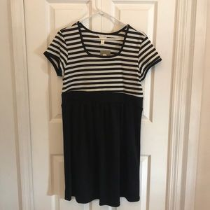 NWT Three Seasons Maternity Black and White Dress